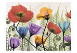 Flowers And Ferns Affiches par Albert Koetsier