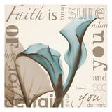 Faith, Blue Calla Lily Poster by Albert Koetsier