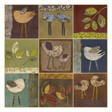Bird And Leaf Collection Poster by Carol Kemery