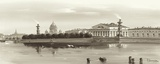 Strelka, Tip of Wassili Island, St. Petersburg Prints by  Ryazanov