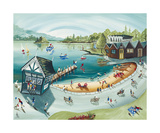 Bowness Boating Print by Anne Blundell