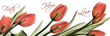 Tulips Across in Red, Faith Prints by Albert Koetsier