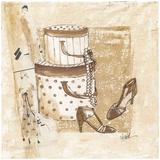 Boites et Chaussures Print by Véronique Didier-Laurent