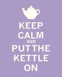 Keep Calm, Lavender Tea Poster