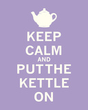 Keep Calm, Lavender Tea Print by  The Vintage Collection