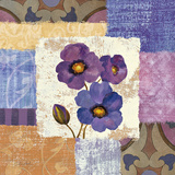 Tiled Poppies II - Purple Prints by Silvia Vassileva