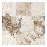 Chicken Squares Prints by Carol Kemery