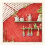 Arrosoirs et Lavande Prints by Vincent Jeannerot