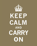 Keep Calm And Carry On VII Print