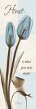 Home, Blue Tulip Posters av Albert Koetsier