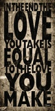 Love Equal You Print by Carole Stevens