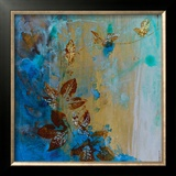 Jewelled Leaves XVII Print by Jennifer Hollack