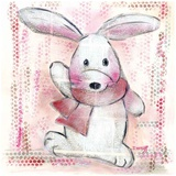 Lapin Rose Prints by Joelle Wolff