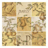 Les Poires Pears Poster by Carol Kemery