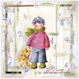 Enfant Écharpe Verte Art by Joelle Wolff