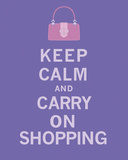 Keep Calm, Shopping Prints by  The Vintage Collection