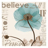 Believe, Blue Poppy Print by Albert Koetsier