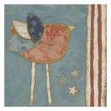Patriotic Bird Print by Carol Kemery