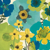 Garden Brights Cool IV Prints by  Pela