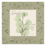 Serenity on Green Damask Posters van Albert Koetsier