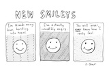 Updated versions of the stick figure smiley's - New Yorker Cartoon Premium Giclee Print by Roz Chast