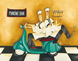 Martini Bar Prints by Jennifer Garant