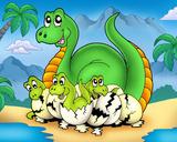 Dino II Plakat autor Klara Viskova