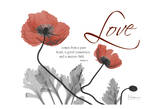 Love Poppies in Red Poster by Albert Koetsier
