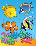 Four Fishes Poster von Klara Viskova