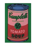 Colored Campbell&#39;s Soup Can, c.1965 (red &amp; green) Posters by Andy Warhol