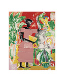 In the Garden, c.1974 Prints by Romare Bearden