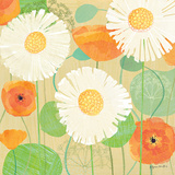 Daisies and Poppies II Affiches par Susy Pilgrim Waters
