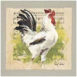 Coq Blanc Poster by Pascal Cessou