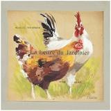 Poules La Lettre du Jardinier Art by Pascal Cessou