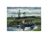 The Blue Boat, c.1892 Poster by Winslow Homer