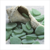 Sea Glass, Kelly Green Posters by Celia Pearson