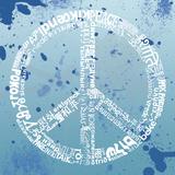Peace (blue) Art
