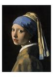 Flicka med pärlörhänge Posters av Jan Vermeer