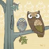 Pastel Owls IV Schilderijen van Paul Brent