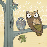 Pastel Owls IV Prints by Paul Brent