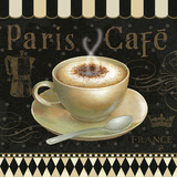Cafe Parisien III Art Print by Daphne Brissonnet
