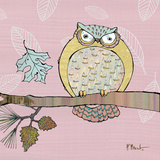 Pastel Owls III Poster van Paul Brent