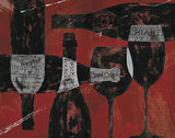 Wine Selection III Red Poster by Daphne Brissonnet