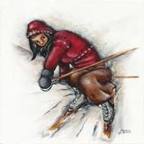 Skieuse Se Releve Prints by Stephanie Holdert