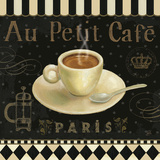 Cafe Parisien II Art Print by Daphne Brissonnet