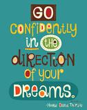 Go Confidently Posters av Helen Dardik