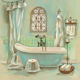 Glass Tile Bath I Prints by Silvia Vassileva