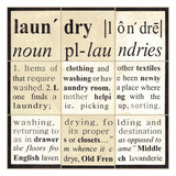 Laundry Definition Prints by Carol Kemery