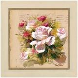 Bouquet Roses Blanches et Roses Prints by Pascal Cessou