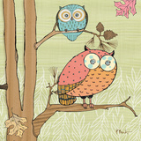 Pastel Owls I Print by Paul Brent